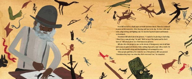 Intern on Self-Taught Artist Bill Traylor