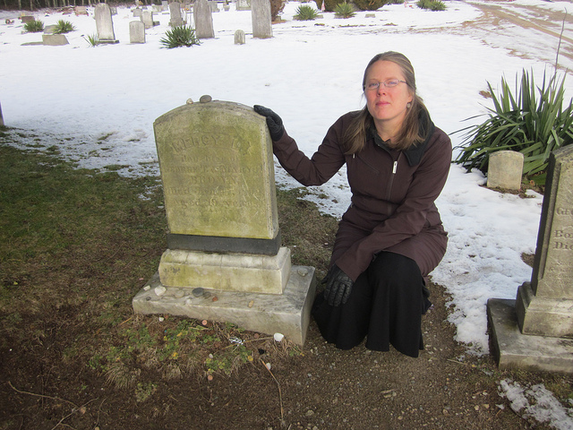 Sarah L. Thomson author of MERCY at Mercy Brown's Grave