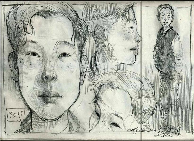 Gaijin Sketch © Matt Faulkner