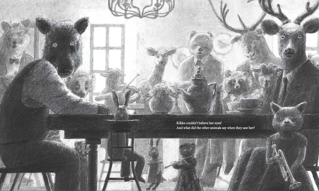 Illustration from THE TEA PARTY IN THE WOODS