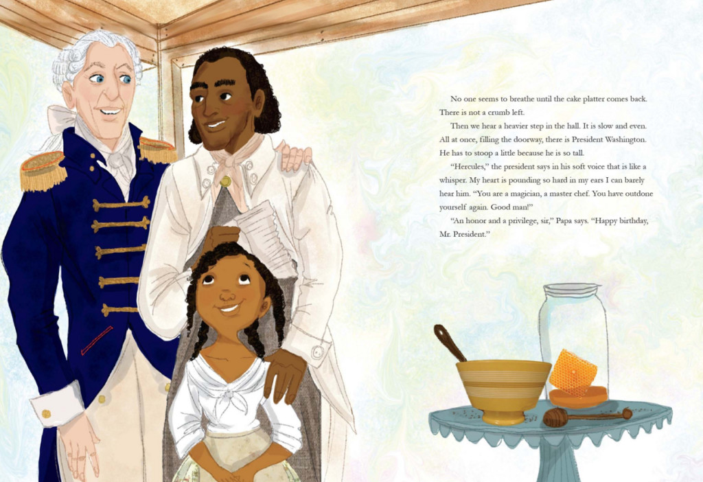 Illustration from A BIRTHDAY CAKE FOR GEORGE WASHINGTON © Vanessa Brantley-Newton
